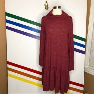 NEW Sunday in Brooklyn maroon cowl neck dress